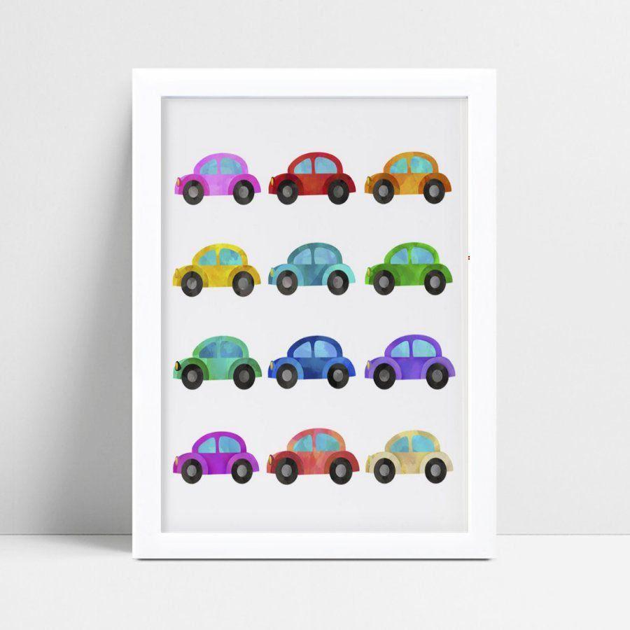 Quadros Quadros Decorativos Infantil carrinhos coloridos