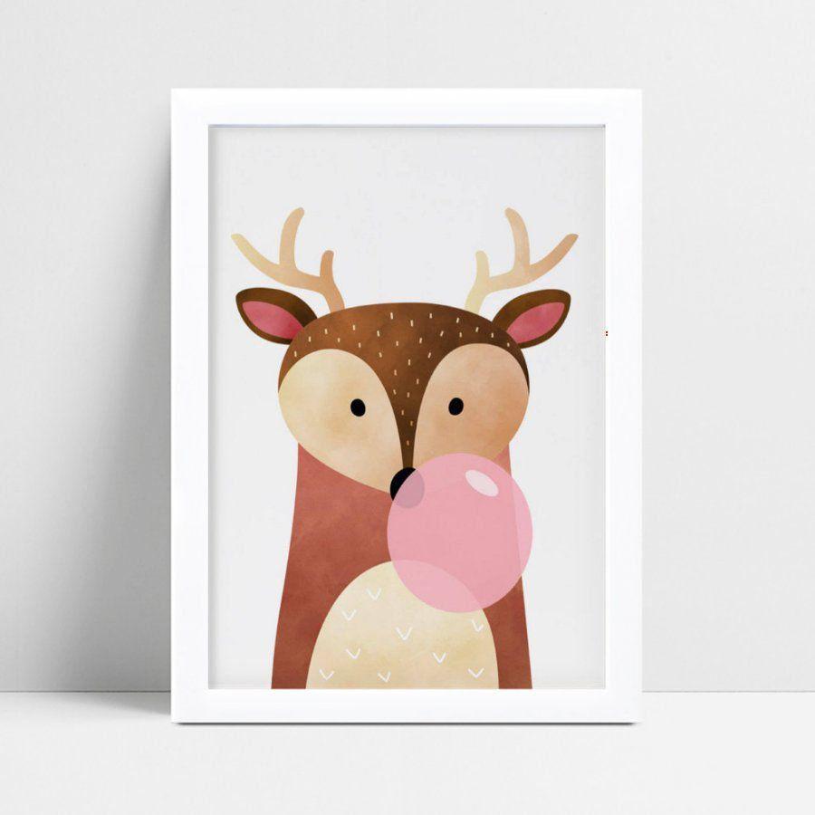 Quadros Quadros Decorativos Infantil cervo veado chiclete