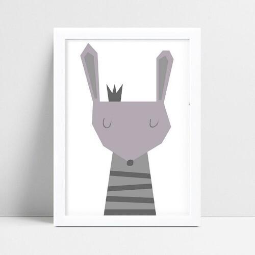 Quadros Quadros Decorativos Infantil coelho cinza