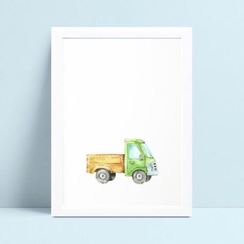 Quadros Quadros Decorativos Infantil desenho caminhão
