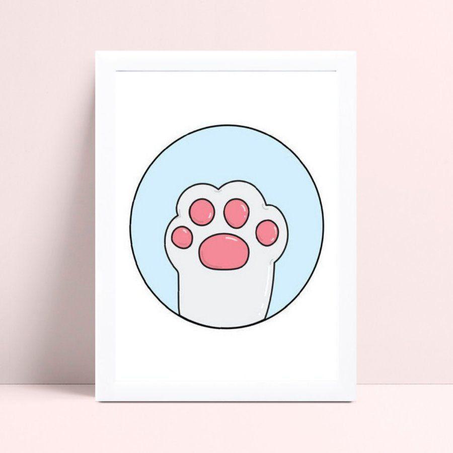 Quadros Quadros Decorativos Infantil desenho pata de gato