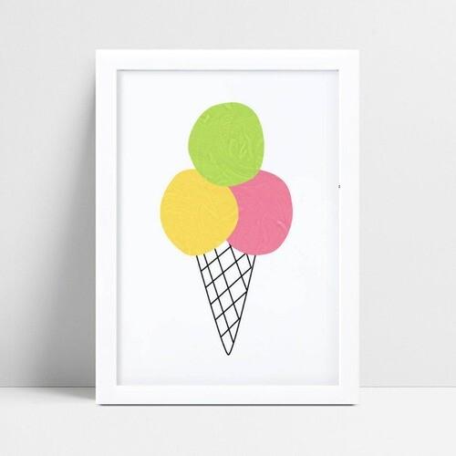 Quadros Quadros Decorativos Infantil desenho sorvete