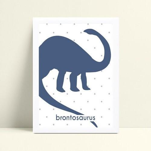 Quadros Quadros Decorativos Infantil dinossauro azul