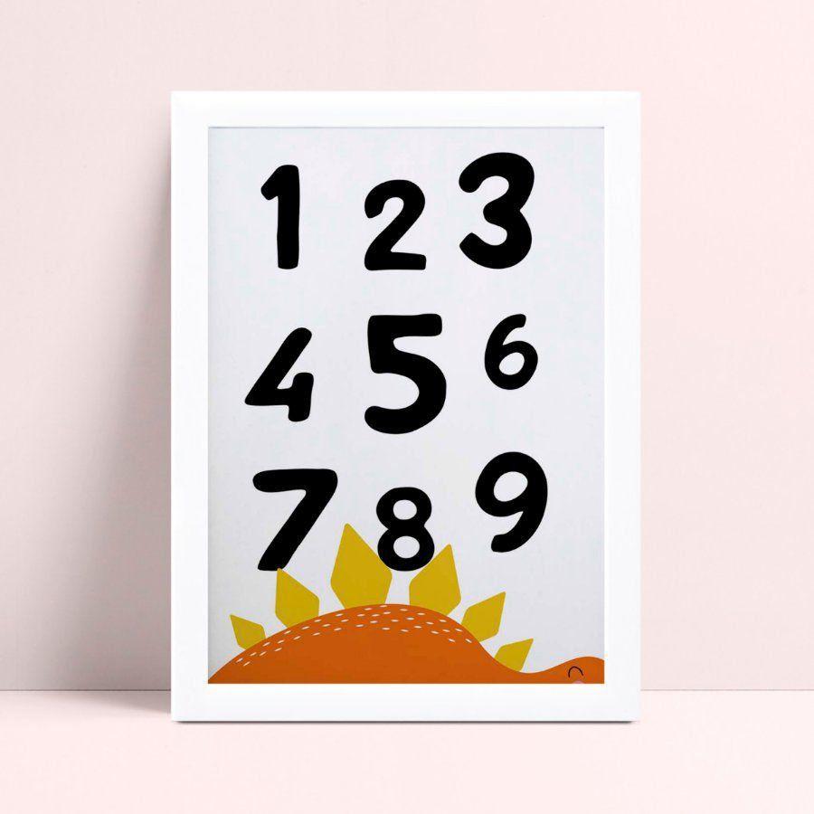 Quadros Quadros Decorativos Infantil dinossauro números