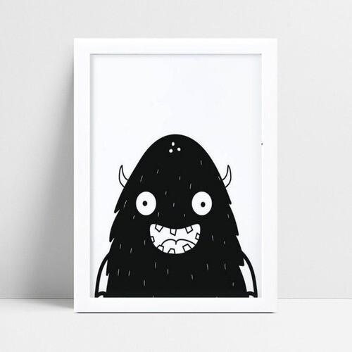 Quadros Quadros Decorativos Infantil monstro p&b