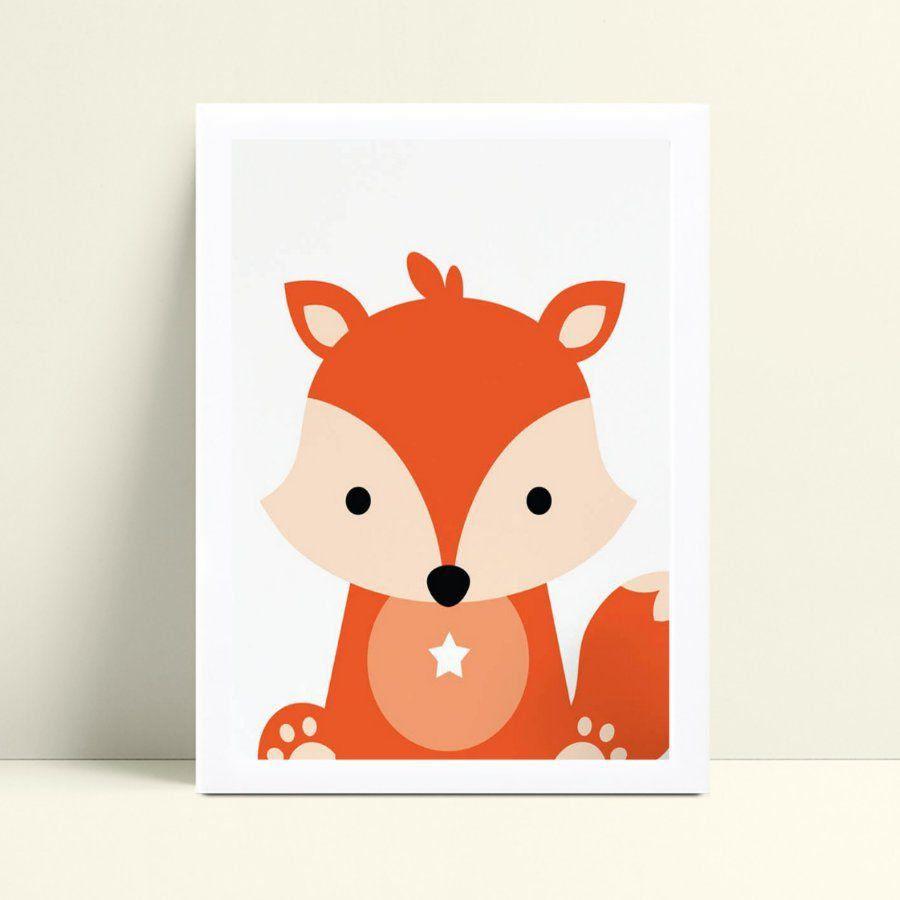 Quadros Quadros Decorativos Infantil raposa floresta