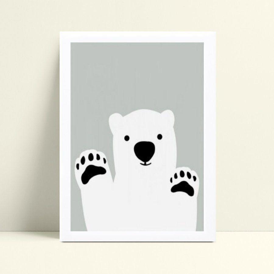 Quadros Quadros Decorativos Infantil urso branco