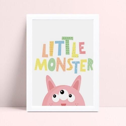 Quarto infantil decoração menina monstro rosa espiando