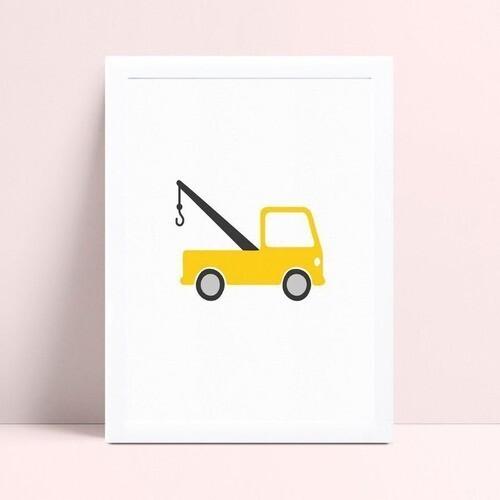 Quarto infantil decoração menino caminhão amarelo
