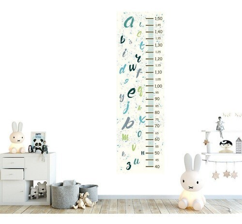 Régua Crescimento Adesivo Alfabeto Infantil RC14