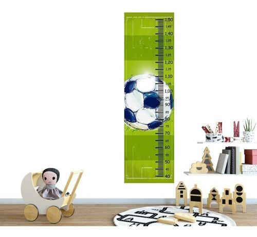 Régua Crescimento Adesivo bola e campo futebol RC022
