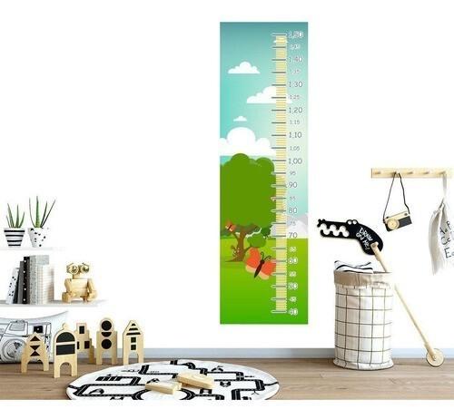 Régua Crescimento Adesivo Borboleta Menina RC117