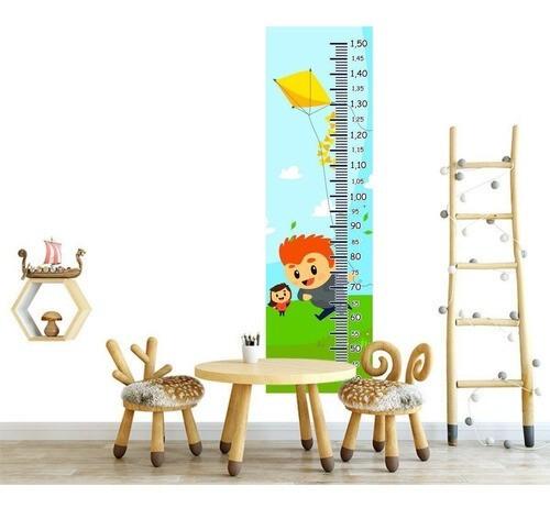 Régua Crescimento Adesivo crianças soltando pipa RC040