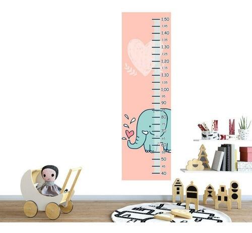 Régua Crescimento Adesivo Elefanti Infantil RC126