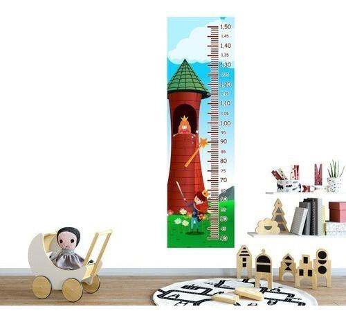 Régua Crescimento Adesivo princesa na torre RC078