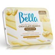 Cera Depilatória Cremosa Chocolate Branco 800GR - Depil Bella