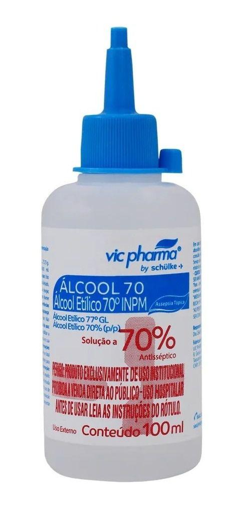 ÁLCOOL 70% VIC PHARMA 100ML ALMOTOLIA