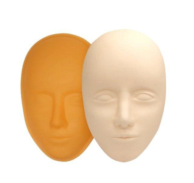 Cabeça Rosto 3D com Base para Treino Micropigmentação