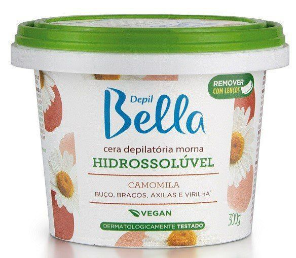 Cera Hidrossolúvel Camomila & Açucar 300g - Depil Bella