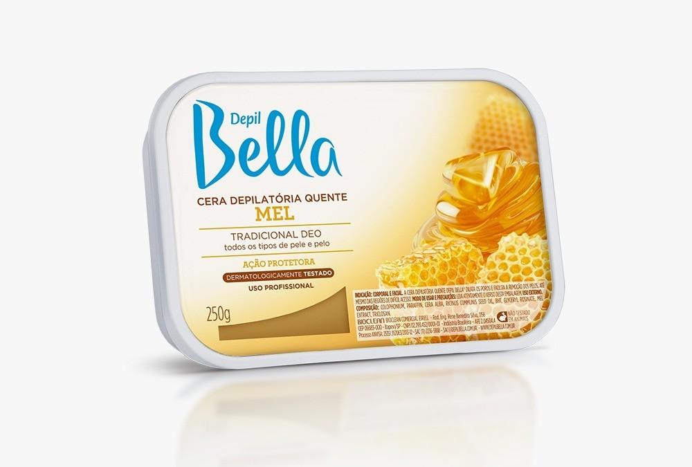 Cera Depilatória Quente Mel 1kg - Depil Bella