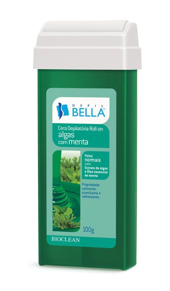 Cera Depilatória Roll-On Algas com Menta - Depil Bella