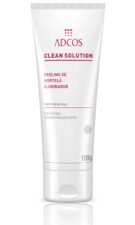 CLEAN SOLUTION Peeling de Hortelã Iluminador 100g - Adcos