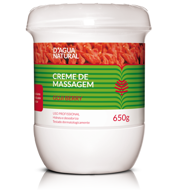 Creme de Massagem Goji Berry - D'Agua natural