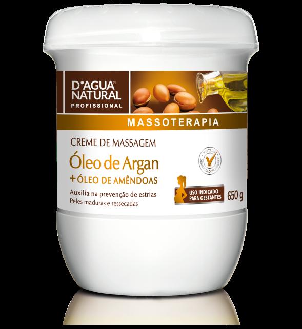 Creme de Massagem Óleo de Argan - D'Agua natural