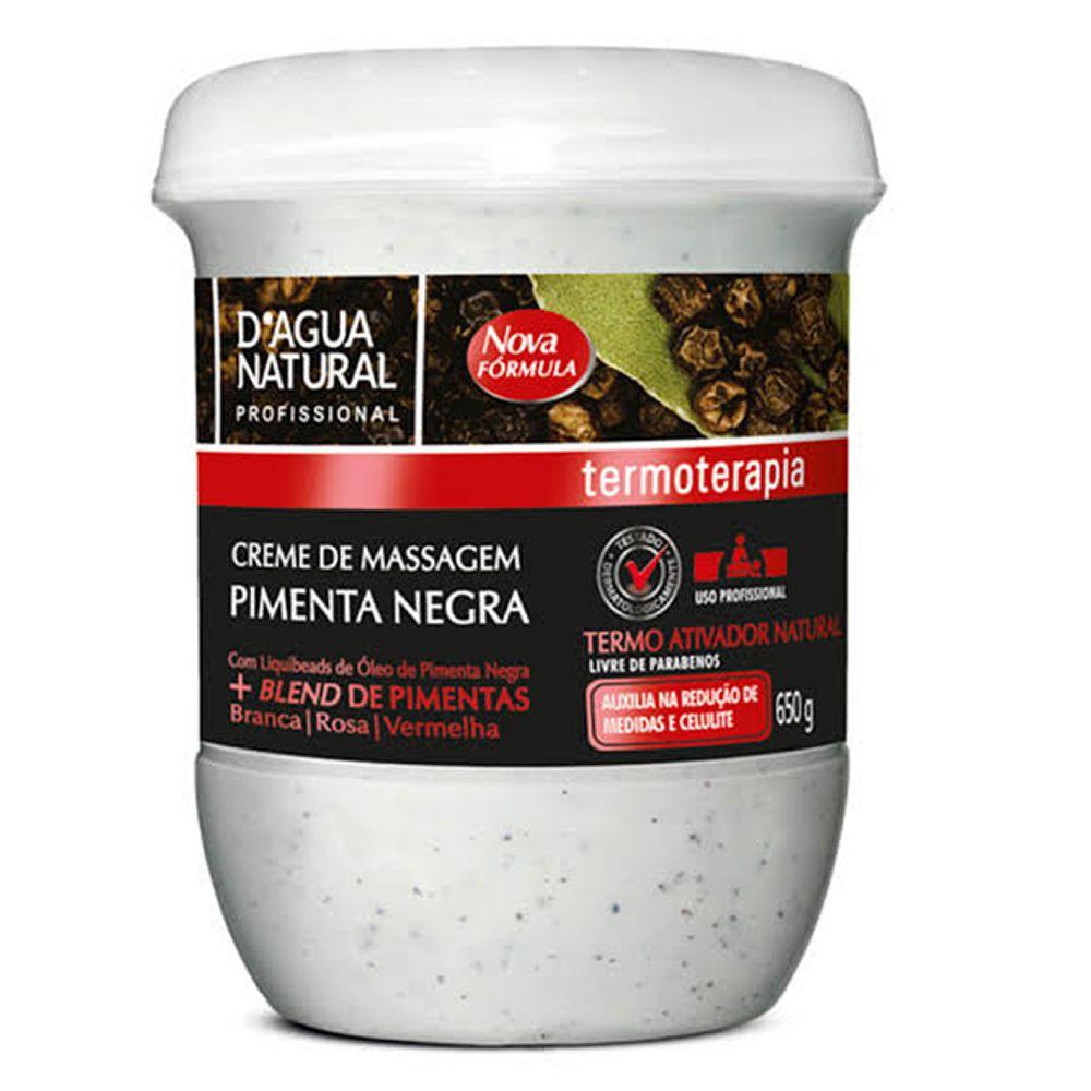 Creme de Massagem Pimenta Negra- D'Agua natural