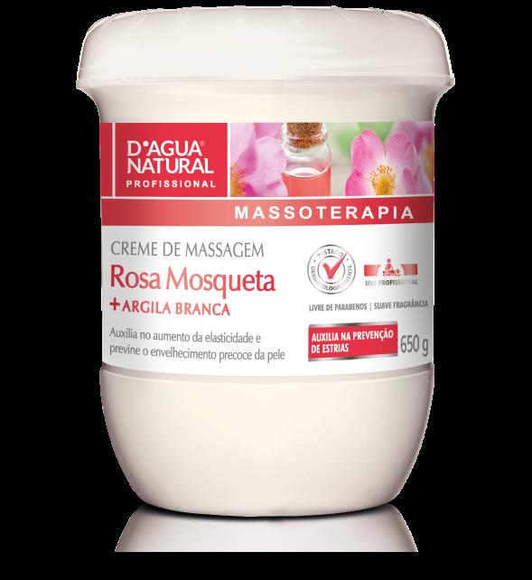 Creme de Massagem Rosa Mosqueta e Argila Branca - D'Agua natural