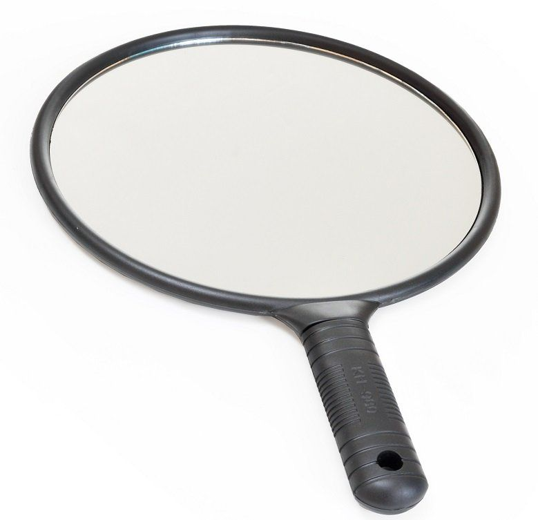Espelho Grande de Mão  Redondo - Santa Clara