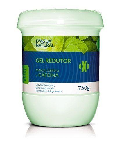 Gel Redutor Mentol, Cânfora e Cafeína-D'Agua natural