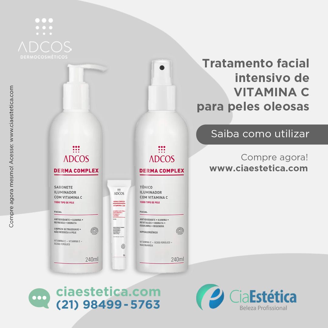 kit Tratamento Facil Intensivo de Vitamina C para Peles Oleosas - Adcos
