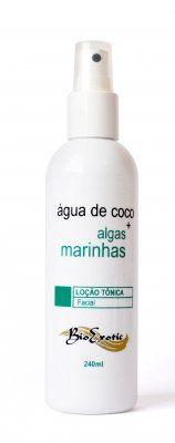 Loção Tônica Facial Ág.de Coco e Algas Marinhas - Bio Exotic