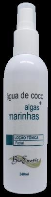 Loção Tônica Facial com Água de Coco e Algas Marinhas 240ml - Bioexotic