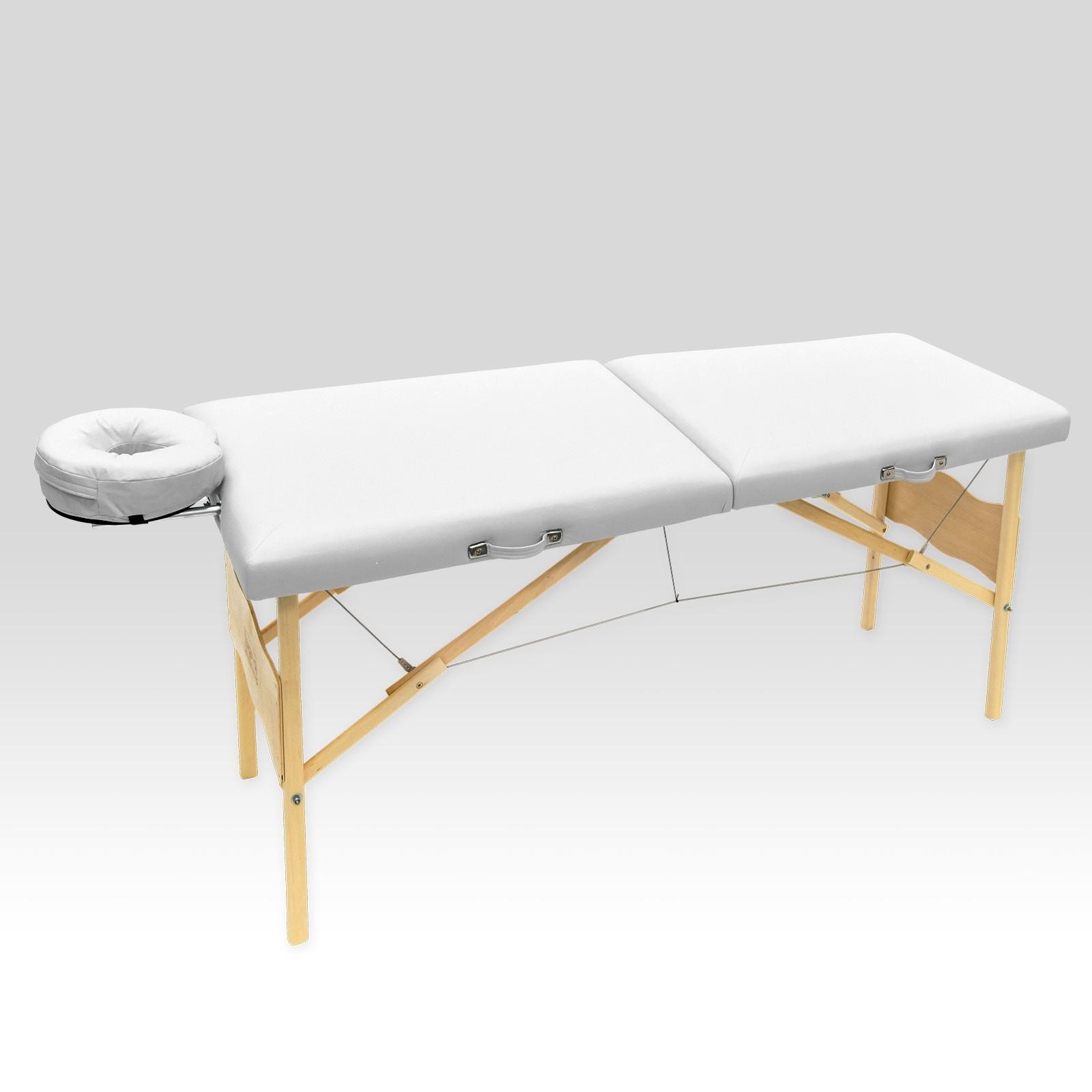 Maca De Massagem Portátil Com Altura Fixa Vegga Branco - Legno