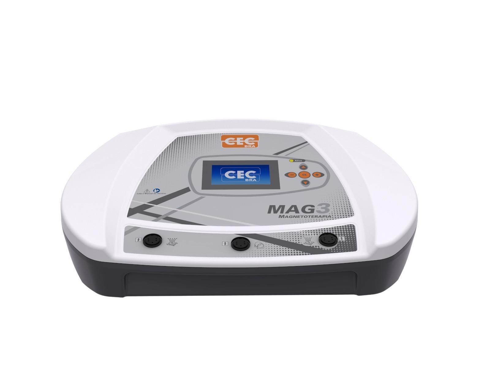 MAG 3 - Magnetoterapia 3 Canais 150 Gauss - CECBRA