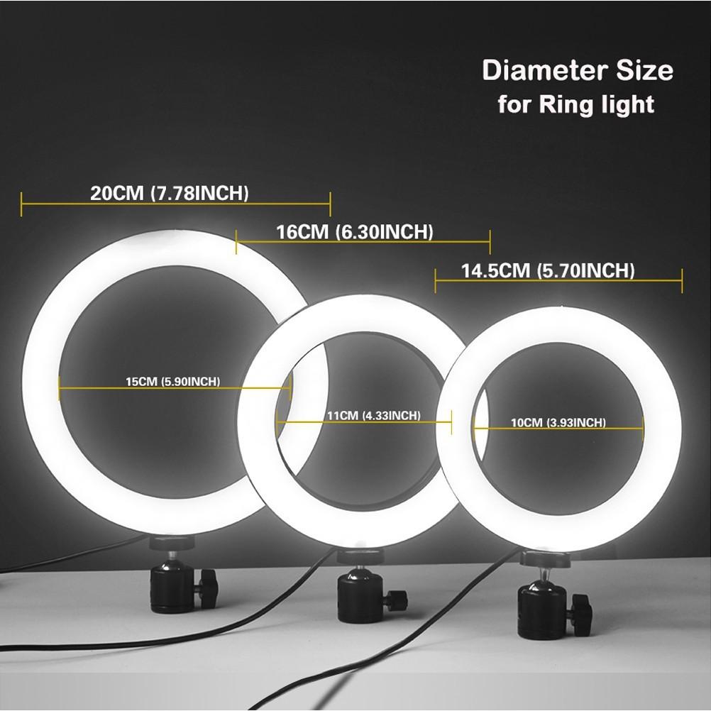 Ring Light Led 20cm C/ Tripé Profissional