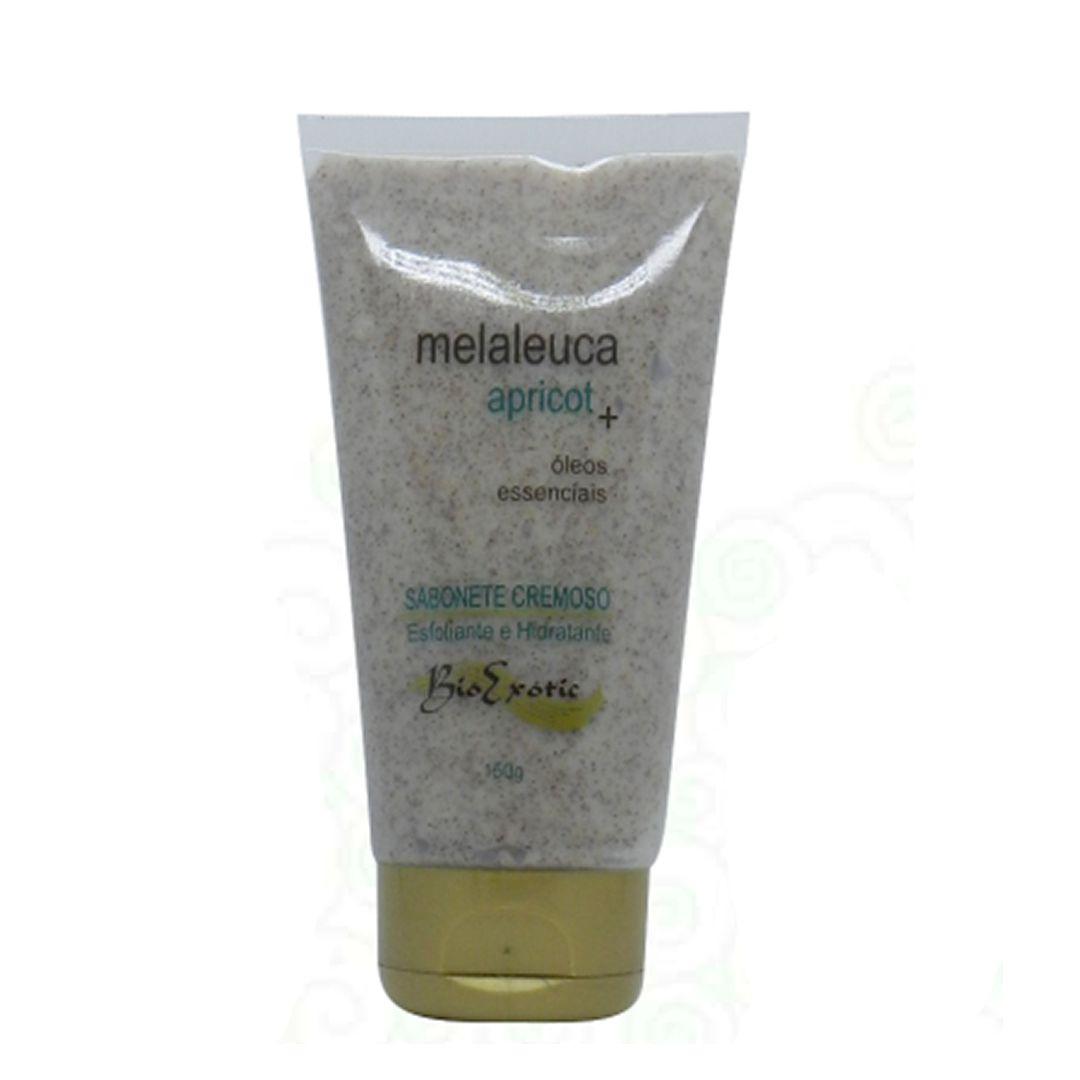 Sabonete esfoliante maleluca e apricot - Bio Exotic