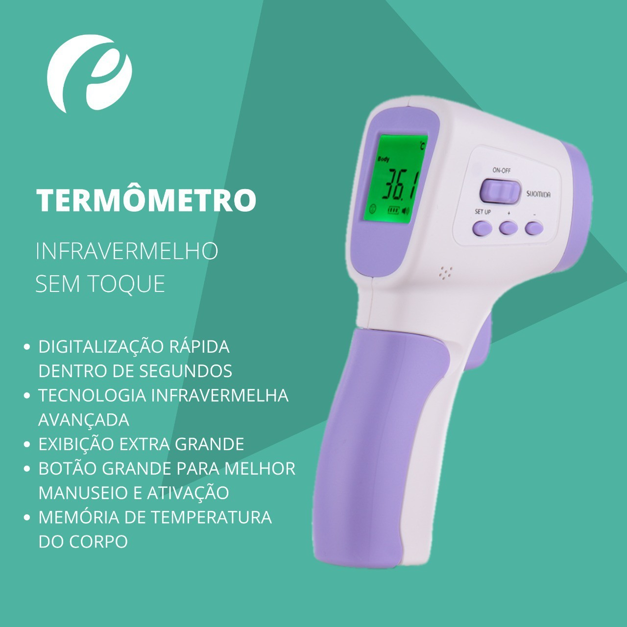 Termômetro Infravermelho Laser Sem Contato - Wl Importação