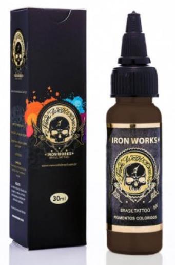 Tinta Iron Works para Tatuagem - Chocolate Escuro