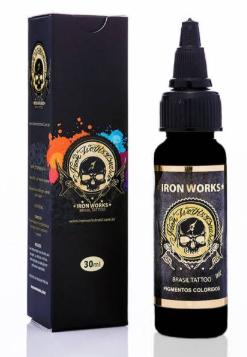 Tinta Iron Works para Tatuagem - Preto Linha