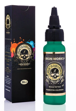 Tinta Iron Works para Tatuagem - Verde