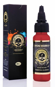 Tinta Iron Works para Tatuagem - Vermelho