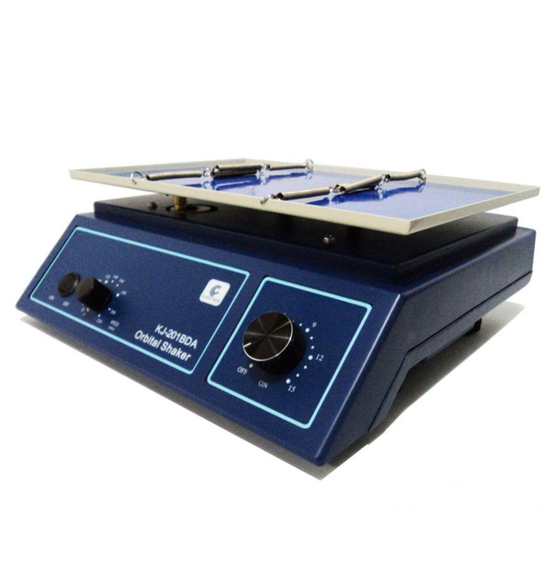 AGITADOR TIPO KLINE COM 2 PRESILHAS PLATAFORMA 22X15CM  VELOCIDADE 0-230 RPM REF KJ-201BSA