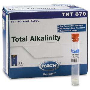 ALCALINIDADE REAGENTE TNTPLUS 25-400 MG/L 25 TESTES TNT870 HACH