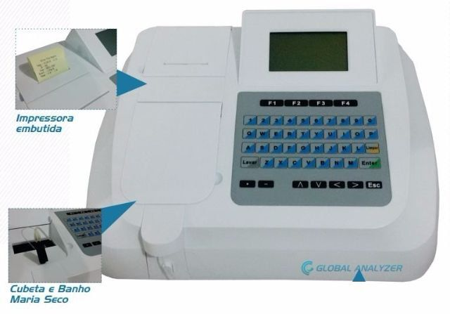 ANALISADOR BIOQUÍMICO SEMIAUTOMÁTICO GLOBAL ANALYZER REF GTT-998