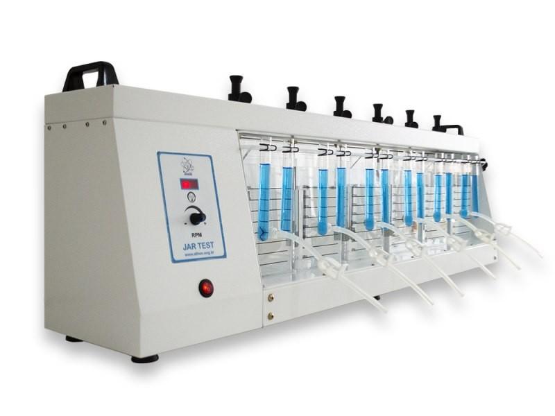 APARELHO JAR TEST ANALÓGICO COM DOSADOR VELOCIDADE 10-600 RPM PARA 6 PROVAS DE 2000 ML
