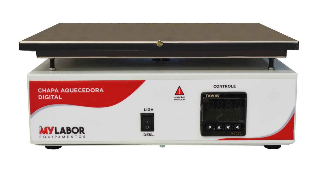 CHAPA AQUECEDORA DIGITAL EM INOX TEMPERATURA DE TRABALHO ATÉ 350ºC