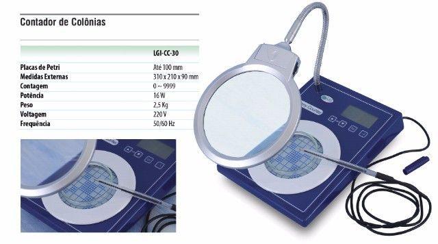 CONTADOR DE COLONIAS DISPLAY LCD PLACAS ATÉ 100MM BIVOLT